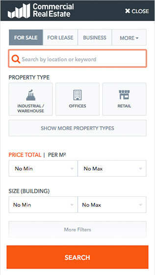 Commercial Real Estate mobile search